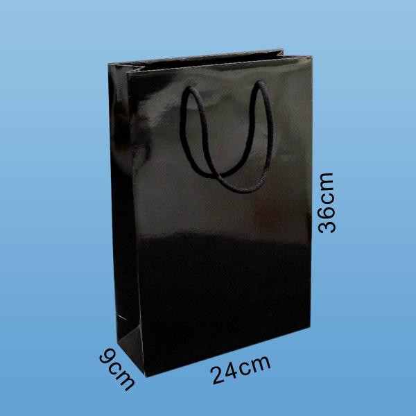 lackpapiertaschen, papiertaschen glänzend, papiertragetaschen schwarz